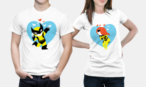 Marvel Wolverine X-Men - Matching Couple T Shirts Set - Couple Gifts