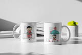 Showering With Love - Matching Couple Mugs Set - Couples Gifts - Couple Gifts