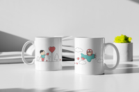 Love Is In The Air - Matching Couple Mugs Set - Couples Gifts