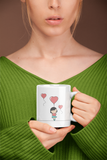 Ballooned With Love - Matching Couple Mugs Set - Couples Gifts - Couple Gifts