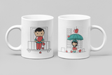 Showering With Love - Matching Couple Mugs Set - Couples Gifts