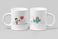 Love Is In The Air - Matching Couple Mugs Set - Couples Gifts - Couple Gifts