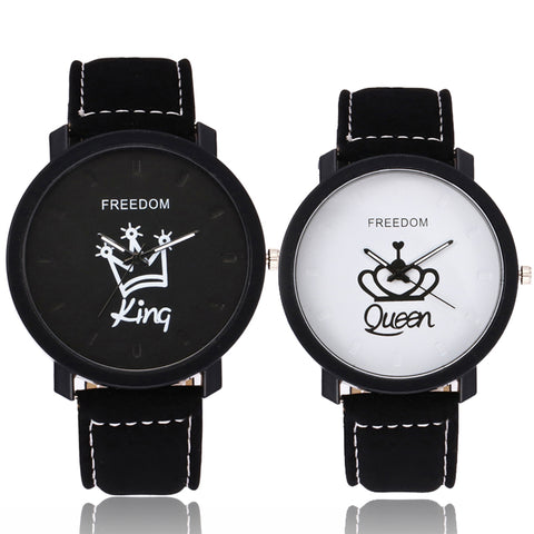 QUEEN and KING - Matching Couple Watches - Couple Gift Set