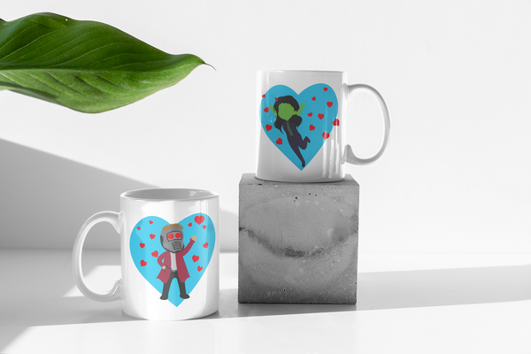 Marvel Avengers - Star Lord & Gamora - Guardians Of The Galaxy - Matching Couples Mugs Set - Couple Gifts Set