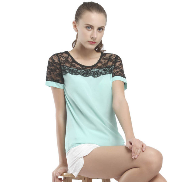 Lace Chiffon Women Blouses Summer - Lika Women