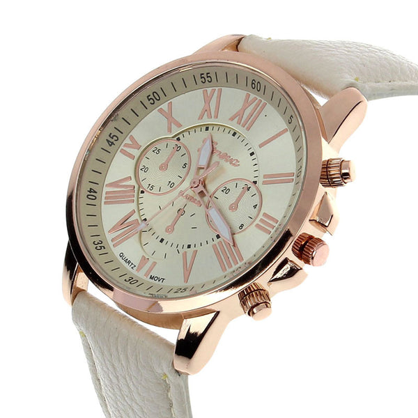 Luxury Analog Quartz Leather Women Watch - Lika Women