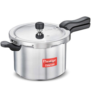 Prestige Svachh Induction Base Aluminium body Pressure Cooker with deep lid for Spillage Control