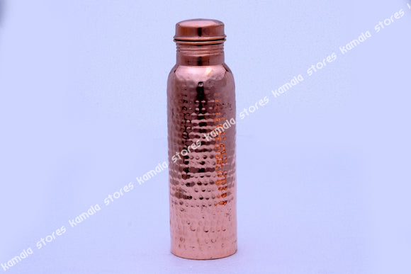 Copper Water Bottle Hammered 950 ml