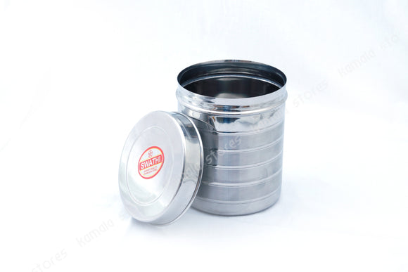 Stainless Steel Container with Design - Sambadam