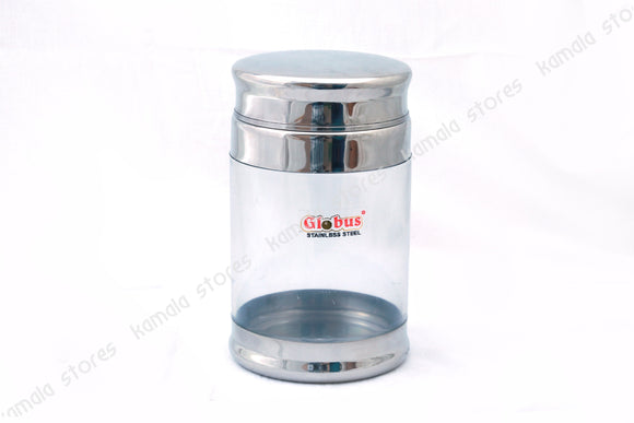 Globus Stainless Steel, See Through Container with Lid 1.5 litre