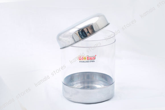 Globus Stainless Steel, See Through Container with Lid