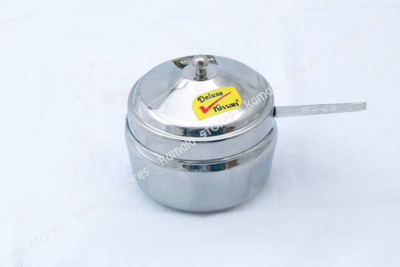 Stainless Steel Ghee Pot with Spoon