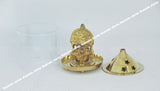 Borosil Brass Diya Medium - Shree Ganapathy Vilakku