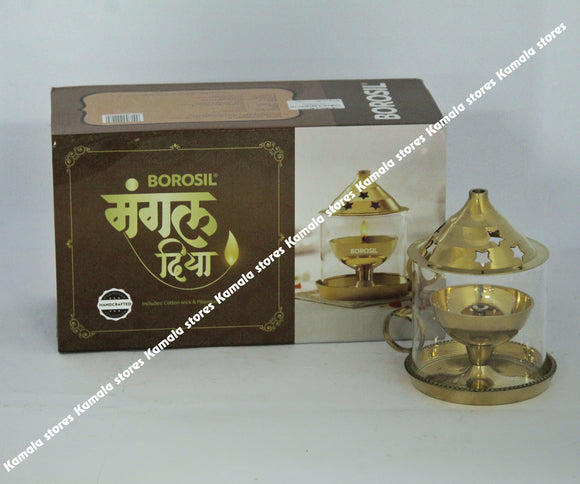 Borosil Brass Mangal Diya - Medium