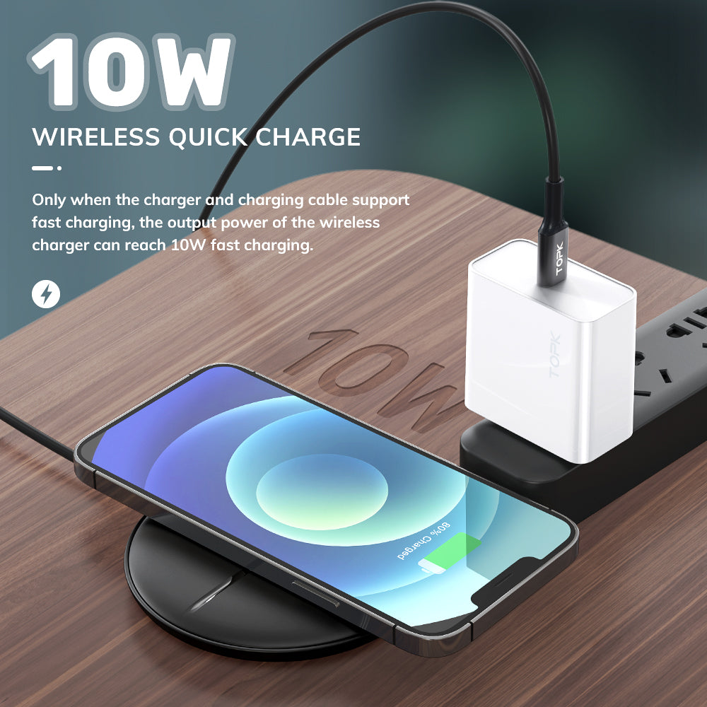 TOPK B09W 10W Fast Wireless Charging Pad