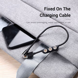 TOPK Micro USB Type C Magnetic Cable Plugs Holder - TOPK Official Store