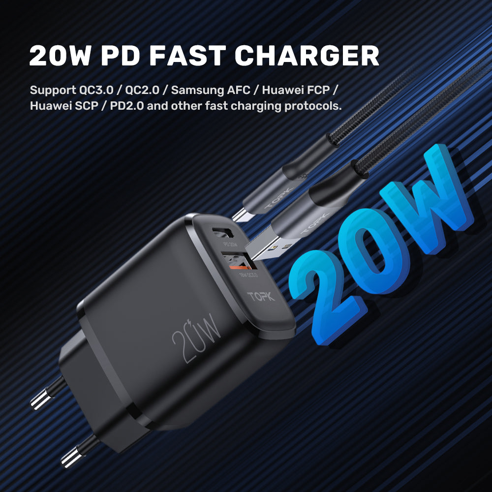 TOPK B210P 20W PD USB Charger
