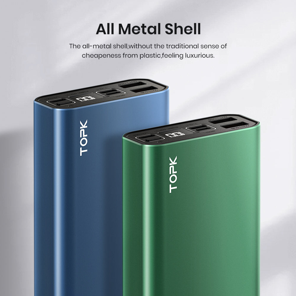 TOPK I2006 20000mAh Aluminum Alloy Shell Power Bank