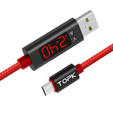 TOPK AC27 LCD Display Micro USB Cable - TOPK Official Store