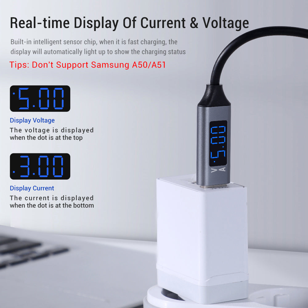 TOPK AC32 LCD Display USB Type C Cable