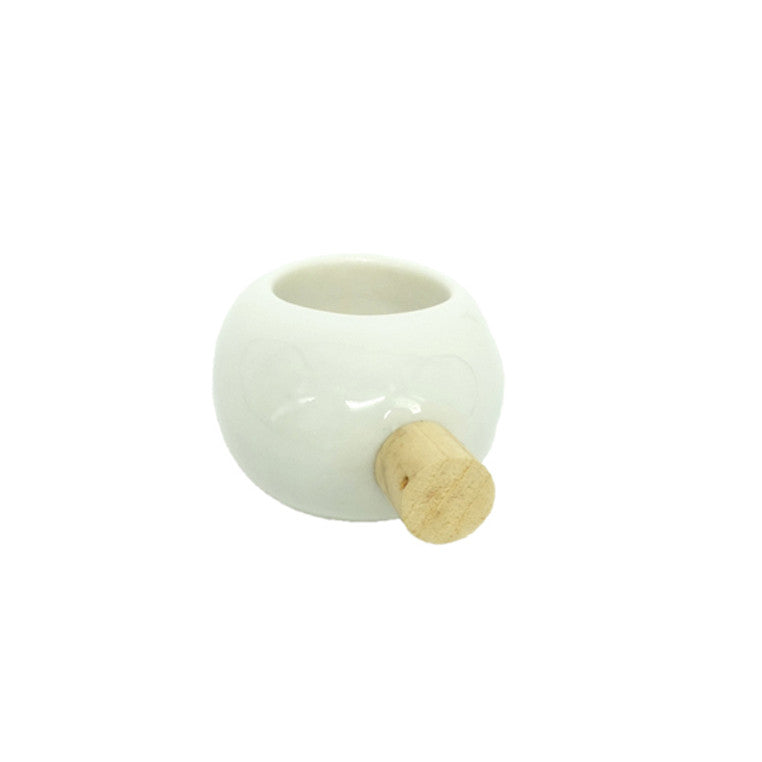Juliane Blank- White Porcelain Ring with Wood