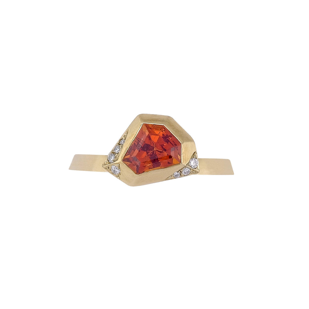 Garnet Ring - Vertex Collection by Rachel Yeung Ame Gallery