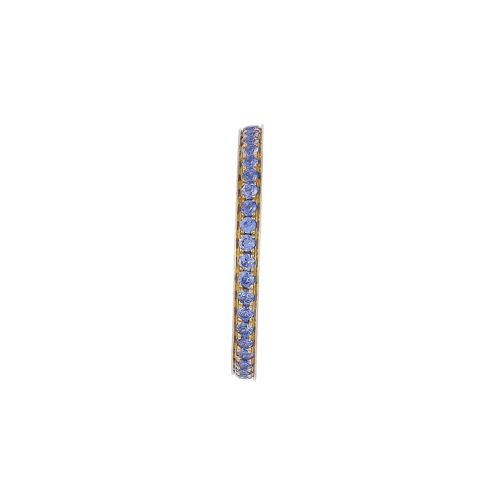 Blue Sapphire Eternity Ring - Vertex Collection by Rachel Yeung