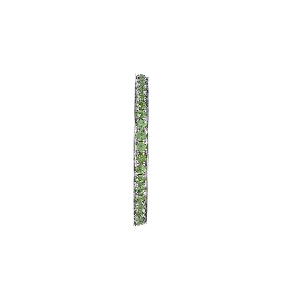 Tsavorite Eternity Ring - Vertex Collection by Rachel Yeung