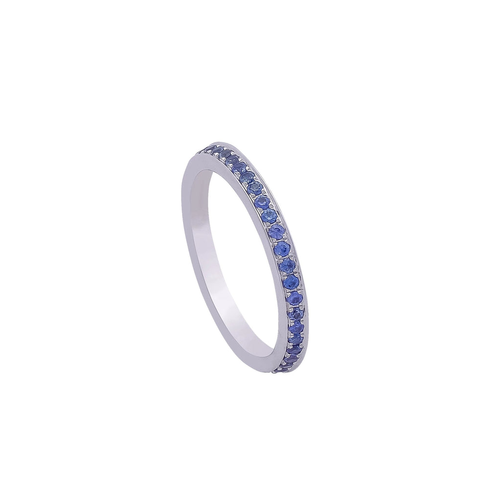 Blue Sapphire Eternity Ring - Vertex Collection by Rachel Yeung Ame Gallery