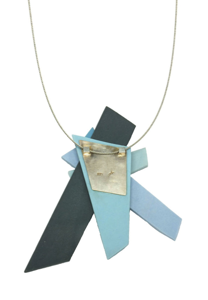 Juliane Blank- Light Blue and Black Porcelain Pendant