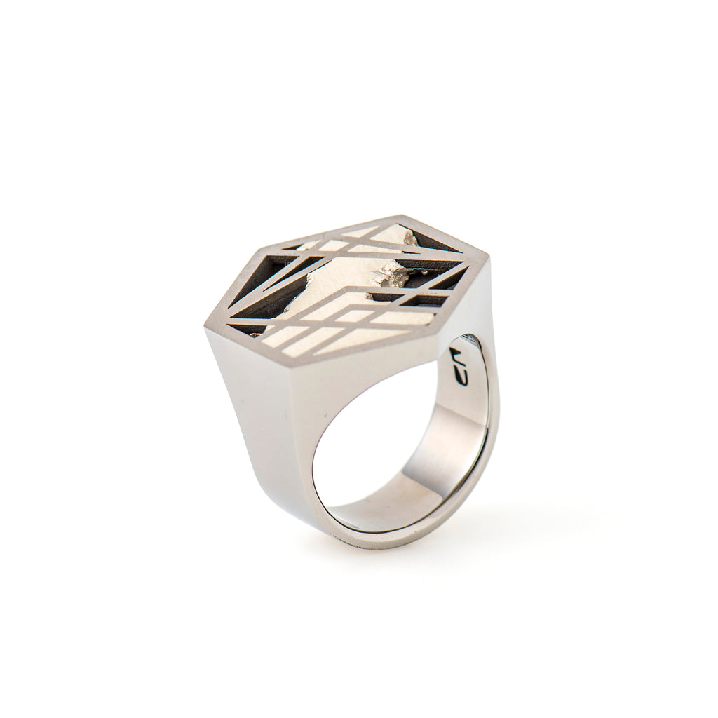 Titianium Ring - Interlace by Carl Noonan Ame Gallery