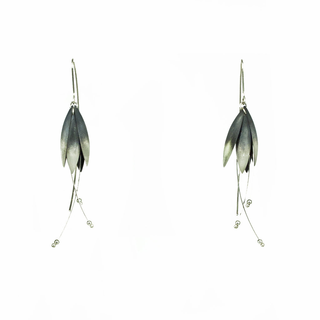 Medium Oxidized Blossom Earrings with Splice