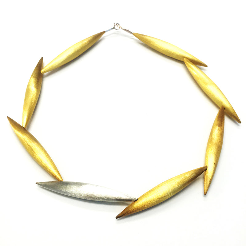 Gold Plated Silver Big Pod Necklace