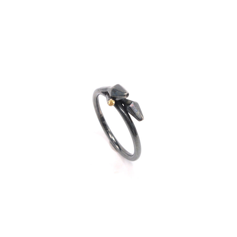 Nicole Schuster- Buds with Stone Mini Ring