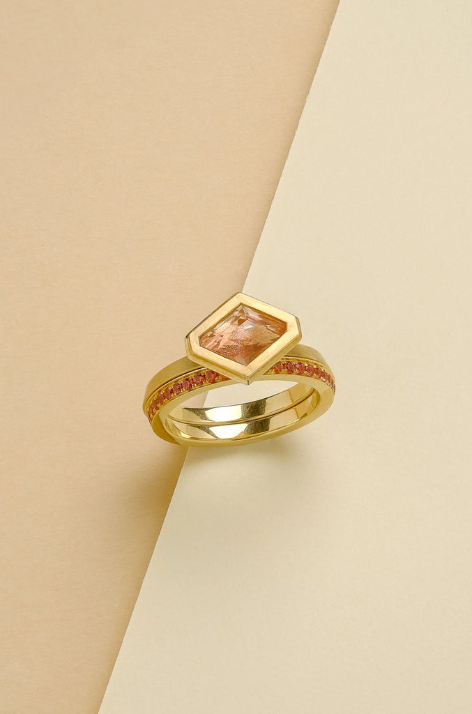 Rachel Yeung - Oregon Sunstone Ring