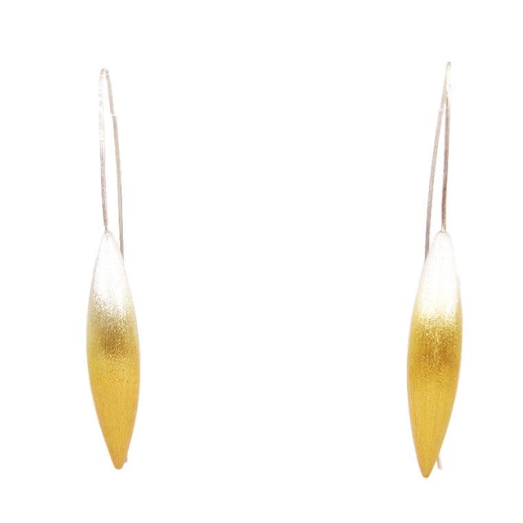 Silver and Gold Plated Silver Drop Earrings