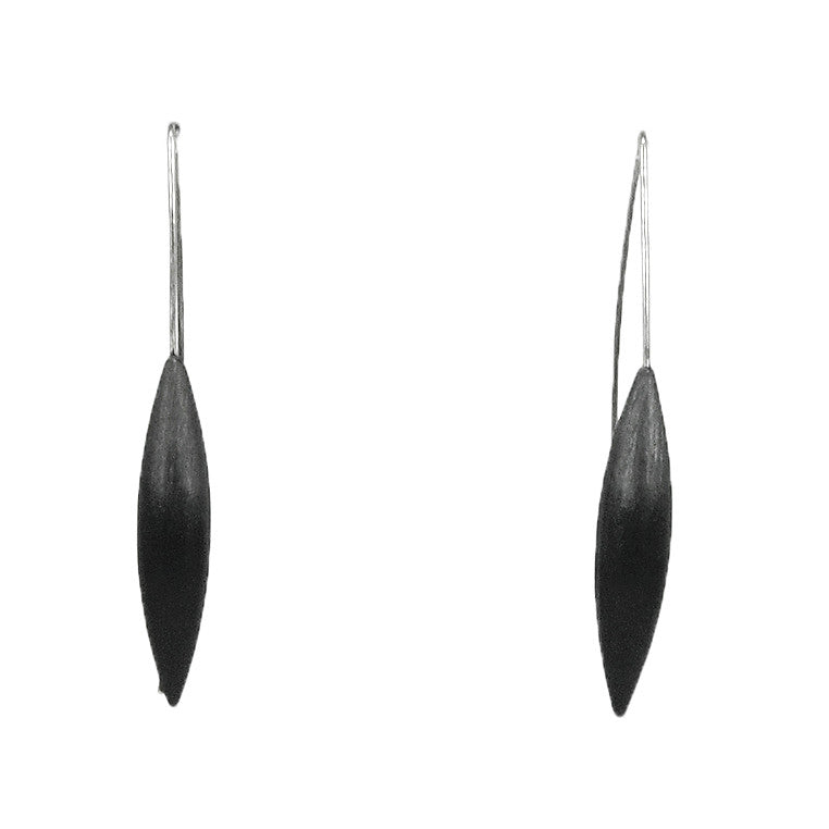 Oxidized Silver Drop Earrings