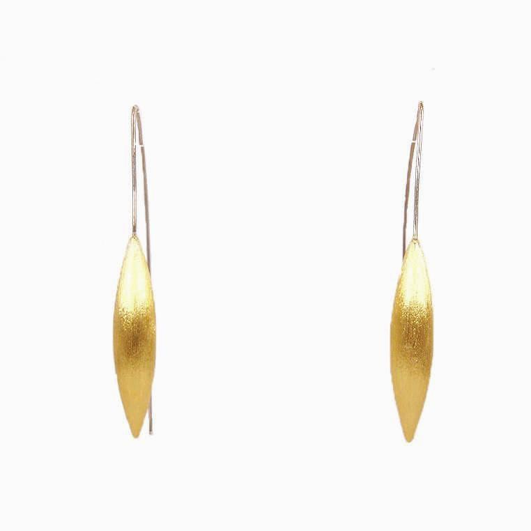 Gold Plated Silver Drop Earrings