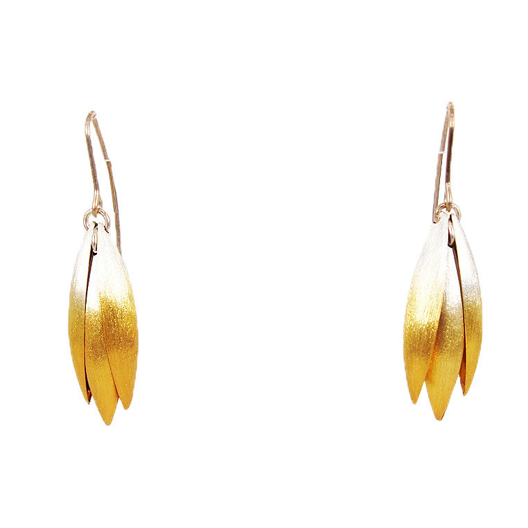 Small Gold Plated Blossom Earrings