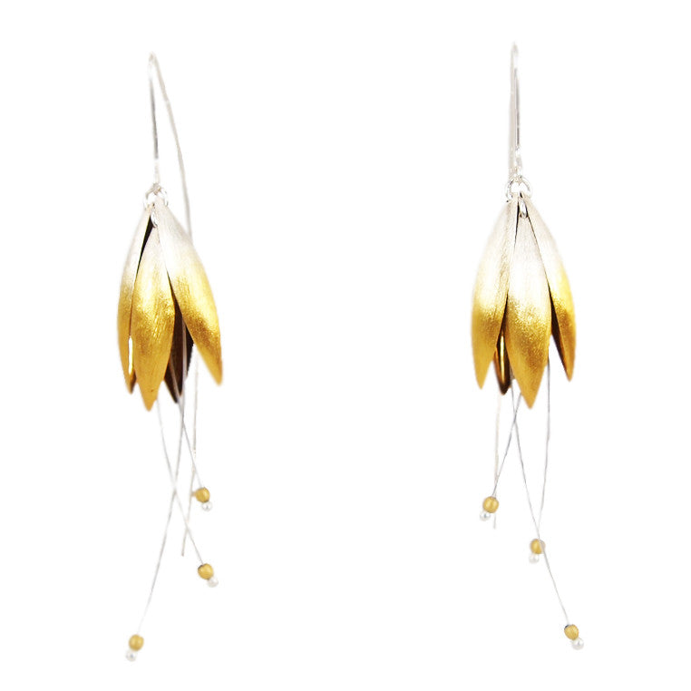 Medium Gold Plated Blossom Earrings with Splice