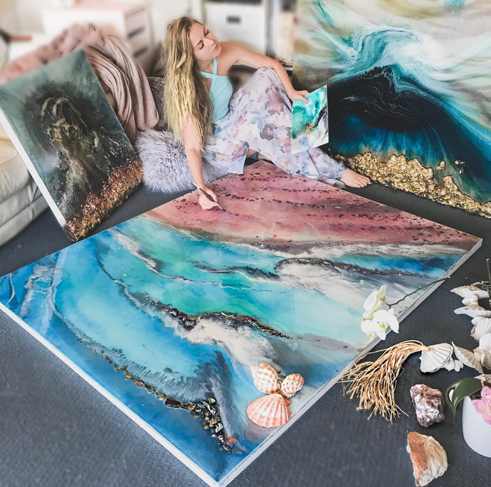 My story by YOO Channel : Australian Artist inspired by the ocean - Antuanelle