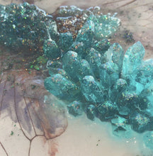 Load and play video in Gallery viewer, Cicada in Crystals. Blue Opal. Original Artwork 30x40cm