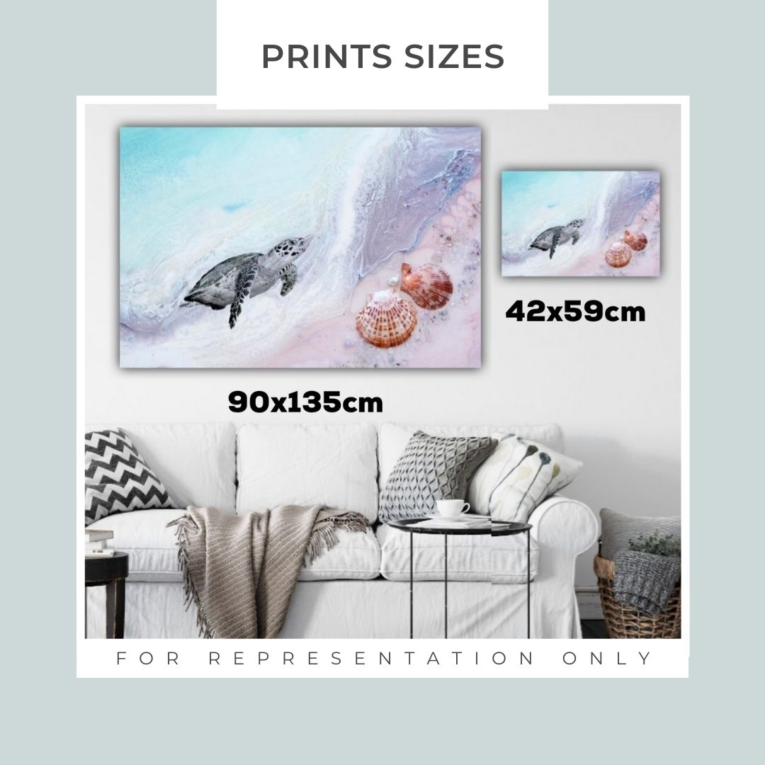 Bondi Surf Neutral Aqua. Abstract Ocean. Limited Edition Print