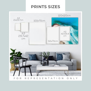 Bondi Surf Aqua Green | Limited Edition Art Print