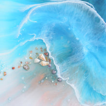 Load image into Gallery viewer, Abstract Ocean. Light Blue. Coogee Vibe 2. Art Print. Antuanelle 3 Ocean Artwork. Limited Edition Print