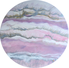 Load image into Gallery viewer, 3 Blush Sands. Round ACRYLIC PLEXIGLASS ROUND. Antuanelle