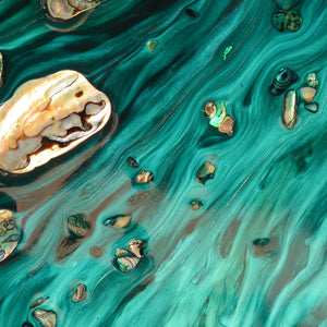 Abstract Ocean Artwork. Rise Above Seashells 1. Art Print. Antuanelle 5 Limited Edition Print
