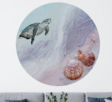 Load image into Gallery viewer, 1 Bounty Turtle. Limited Edition Round ACRYLIC PLEXIGLASS ROUND