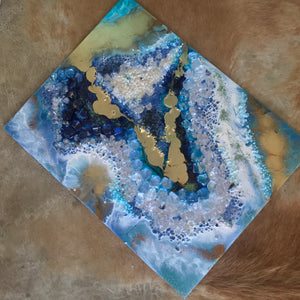 COMMISSION Crystal Geode - CUSTOM Geode Artwork - ABSTRACT ARTWORK