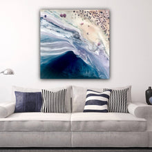 Load image into Gallery viewer, Twilight Date. Abstract Seascape. Original Artwork with Moonstone and Pearls. COMMISSION. Custom 2